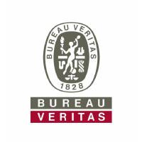 logo de bureau veritas en gris et rouge avec le sceau de l'entreprise.