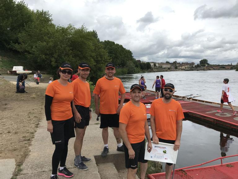 Photos de l'aviron challenge entreprise 2017 : l'équipe sur les quais