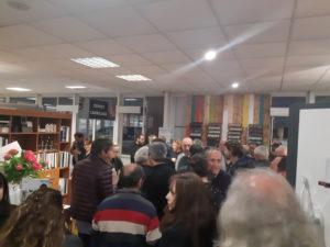 photo de la réception dans la salle d'exposition de Partedis.