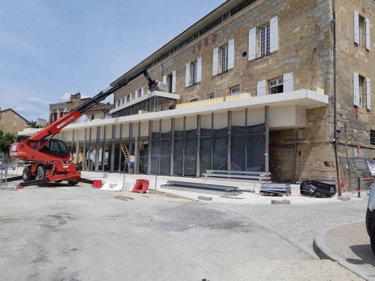 Photo du chantier de la maison des vin à bergerac en 2019.
